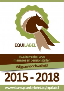 Equilabel met slogan en data